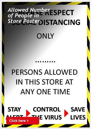 Allowed Number of People in Store Poster