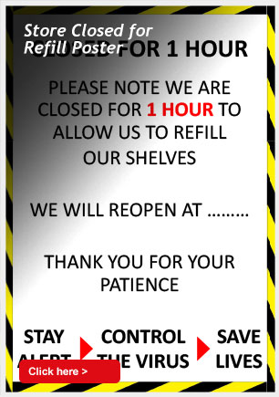 Store Closed for Refill Poster