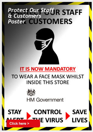 Protect Our Staff and Customers Poster